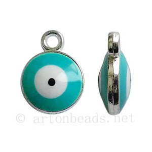 Casting Charm - Evil Eye - 9.9x13.3mm - 8pcs