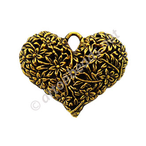 Casting Charm - Large Heart - 34x42mm - 1pc