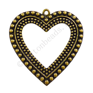 Casting Charm - Large Heart - 60x62mm - 1pc