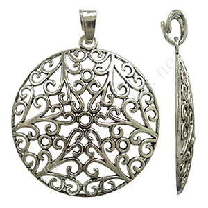 Casting Charm - Tree - Antique Silver Plated - 67x85mm - 1pc