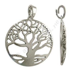 *Casting Charm - Tree - Antique Silver Plated - 57x70mm - 1pc