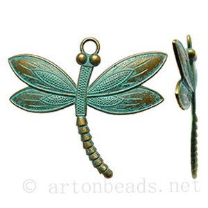 Casting Charm - Dragonfly - 62.8x64.1mm - 2pcs