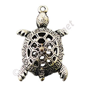 Casting Charm - Turtle - 28x42mm - 1pc