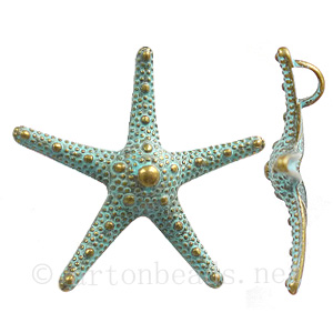 Casting Charm - Star Fish - 38mm - 3pcs