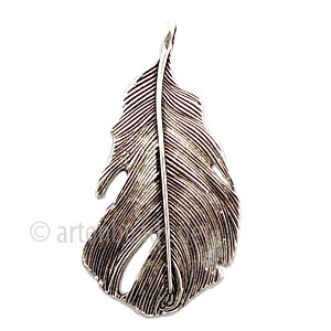 Casting Charm - Feather - 26x47mm - 3pcs
