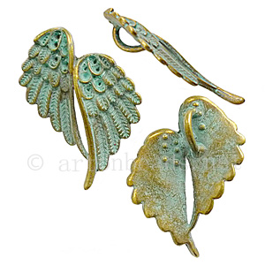 Casting Charm - Wings - 32.4x43.8mm - 2pcs