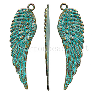 Casting Charm - Wings - 20.6x70.6mm - 2pcs