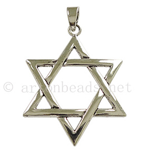 Casting Charm - Star of David - 60x86mm - 1pc