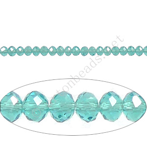 Aquamarine - 2x3mm Chinese Machine Cut Crystal A+