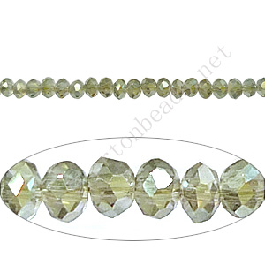 Khaki Luster - 2x3mm Chinese Machine Cut Crystal A+