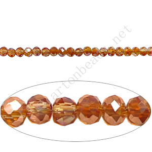 Crystal Amber Iris - 2x3mm Chinese Machine Cut Crystal A+