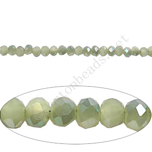 *Green Iris+Light Jade Green Opal - 2x3mm Machine Cut Crystal A+