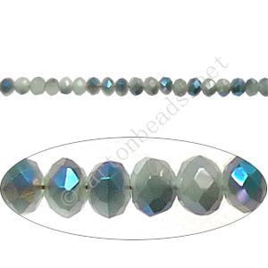 Blue Iris+Aquamarine Opal-2x3mm Chinese Machine Cut Crystal A+