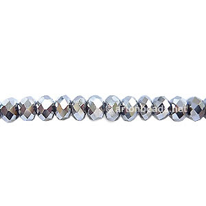 *Steel Color - 3x4mm Chinese Machine Cut Crystal A+