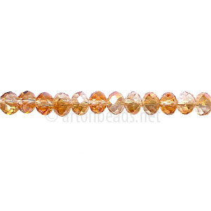 *Crystal Copper - 3x4mm Chinese Machine Cut Crystal A+