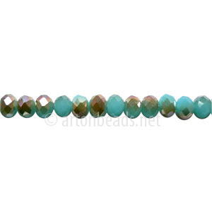 Light Bronze+Light Turquoise Opal - 3x4mm Machine Cut Crystal A