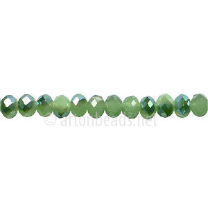 *Green Iris+Light Jade Green-3x4mm Chinese Machine Cut Crystal A