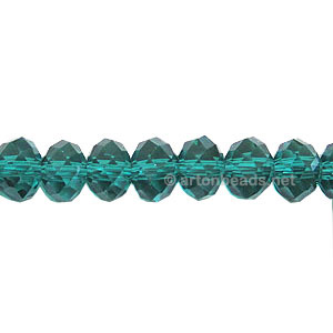 Blue Zircon - 4x6mm Chinese Machine Cut Crystal A+