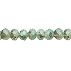 *Khaki Luster - 4x6mm Chinese Machine Cut Crystal A+