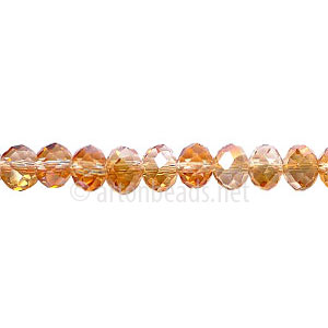 Crystal Copper - 4x6mm Chinese Machine Cut Crystal A+