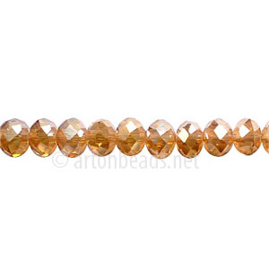 Crystal Amber Shadow - 4x6mm Chinese Machine Cut Crystal A+