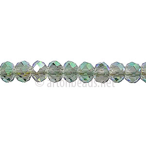 Crystal Green Iris - 4x6mm Chinese Machine Cut Crystal A+