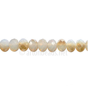 Golden Shadow+White Opal-4x6mm Chinese Machine Cut Crystal A+