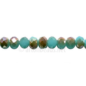 Light Bronze+Light Turquoise Opal - 4x6mm Machine Cut Crystal A