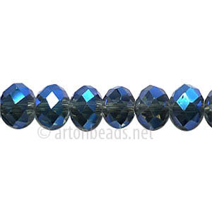 *Green Blue Luster - 6x8mm Chinese Machine Cut Crystal A+