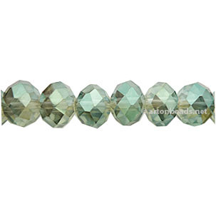 Khaki Luster - 6x8mm Chinese Machine Cut Crystal A+