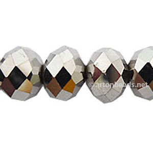 *Steel Color - 9x12mm Chinese Machine Cut Crystal A+
