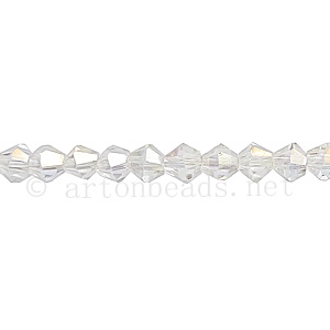Chinese Crystal Bicone - Crystal AB - 4mm