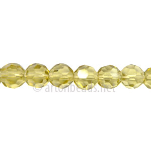 Chinese Crystal Bead - Faceted Round - Olivine - 6mm