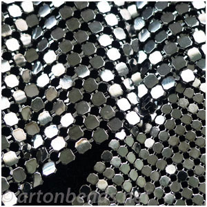 Metal Mesh Fabric - Gun Metal Plated -114x68mm - 2pcs