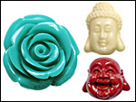 Resin Flowers/Buddha & Others