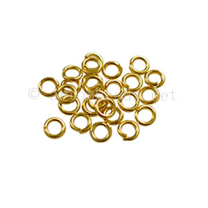 Jump Ring - 18K Gold Plated - 0.6x3.2mm - 250pcs