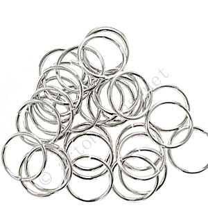 Jump Ring - White Gold Plated - 1.5x19mm - 30pcs