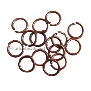 Jump Ring - Antique Copper Plated - 1.5x12mm - 20pcs