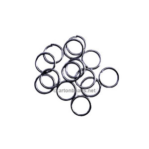 Jump Ring - Gun Metal Plated - 0.8x6mm - 600pcs