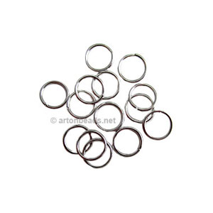 Jump Ring - White Gold Plated - 0.9x7mm - 500pcs