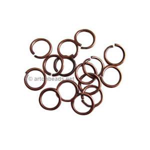 Jump Ring - Antique Copper Plated - 0.9x7mm - 100pcs