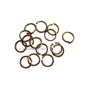 Jump Ring - Antique Brass Plated - 0.9x7mm - 100pcs