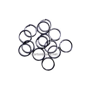 Jump Ring - Gun Metal Plated - 0.9x7mm - 500pcs