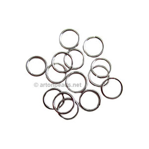 Jump Ring - White Gold Plated - 1x8mm - 500pcs