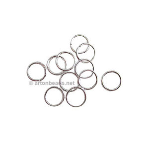 Jump Ring - 925 Silver Plated - 1x7mm - 100pcs