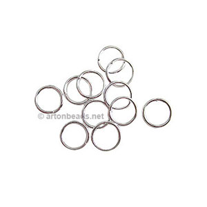 Jump Ring - 925 Silver Plated - 1x8mm - 100pcs