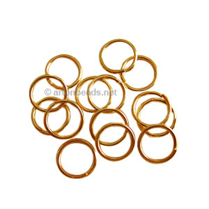 Jump Ring - 18K Gold Plated - 1.2x10mm - 50pcs