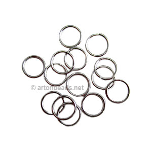 Jump Ring - White Gold Plated - 1.2x10mm - 50pcs