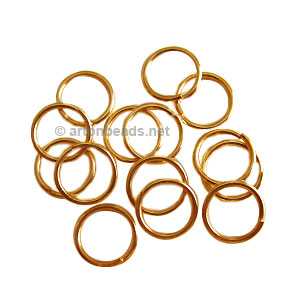 Jump Ring - 18K Gold Plated - 1.2x12mm - 50pcs