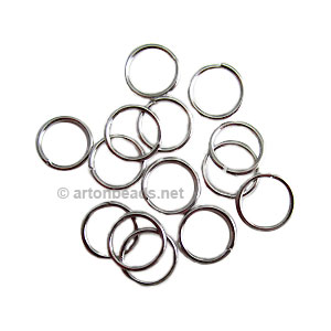 *Jump Ring - White Gold Plated - 1.2x12mm - 50pcs
